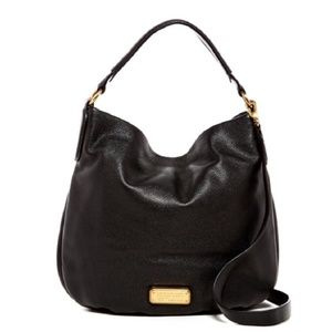 Marc by Marc Jacobs Black Leather Hobo Bag Purse